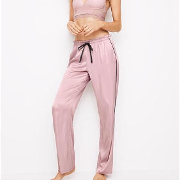 7dd11d736b VS NEW Small Blush Pink Satin Pajama Pants